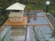 Остекление крыши над барбекю