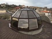 Светопрозрачный купол на крыше дома