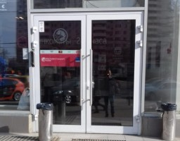 Входная алюминиевая дверь