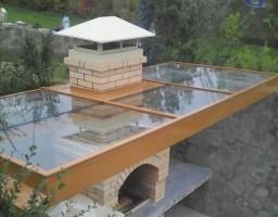 Остекление крыши над барбекю, Красногорский район