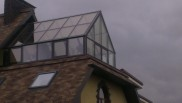 Зимний сад на крыше загородного дома