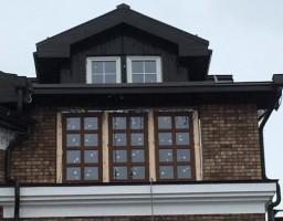 Алюминиевые окна в загородном доме в Аксиньино