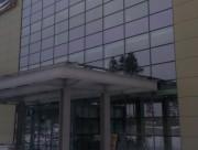 Навес над входной группой комплекса в д. Елино