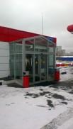 Тамбур входа на АЗС в Зеленограде