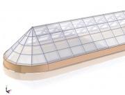 Дизайн проект светопрозрачного купола в торговом центре г. Нефтеюганск