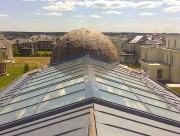 Остекление купола над бассейном