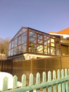 Зимний сад на крыше