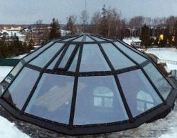 Светопрозрачный купол на крыше